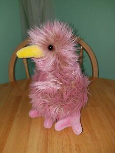 "GUND Kiwi Kilowatt Pink Fluffy Bird 10"" Plush Stuffed Toy 1st Version 1993"