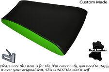 BLACK & LIGHT GREEN CUSTOM FITS RIEJU RS3 125 REAR PILLION LEATHER SEAT COVER