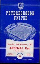Arsenal Football Reserve Fixture Programmes (1960s)