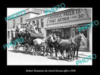 OLD LARGE HISTORIC PHOTO OF HOBART TASMANIA VIEW OF THE TOURIST BUREAU c1920