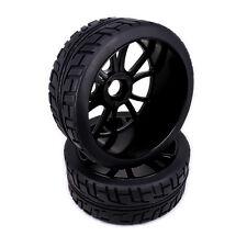 4pcs 12 Spoke Wheel Rim Tire RC 1/8 Buggy Off-Road Car For HSP Traxxas