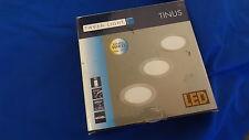 Tween Light LED-Einbauleuchten-Set 3 x 17 W, Weiß, Durchmesser: 225 mm, Nickel
