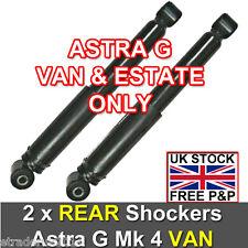 VAUXHALL ASTRA G MK4 VAN 98-04 REAR SHOCK ABSORBERS SHOCKERS x 2 Inc ESTATE NEW