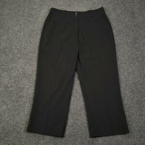 Nike Golf Black Womens Size 4 Dri-Fit Mid-Rise Stretch Activewear Capri Pants