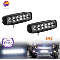 2x 6inch LED Work Light Bar Lamp Spot Driving Fog Offroad Car Truck SUV 4WD PK