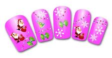 Nail art stickers bijoux d'ongles: Pères Noël flocons décorations de Noël hiver