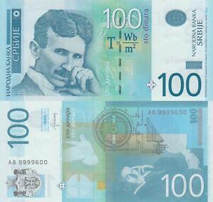 Serbia 100 Dinara (2013) - Nicola Tesla/p57b UNC