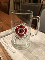 Vintage 1980 PA State Firefighters Association Convention Glass Beer Mug