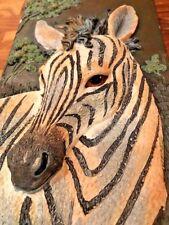 Jungle Animal Wall Sculpture Set 3D Zebra Tiger Cub Giraffe Ruane Manning Cute