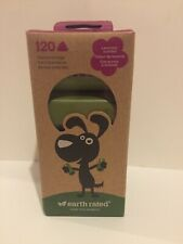 Earth Rated Doggie Poo Bags. Lavander Scent. 120 Bags. 2 Months Supply. Strong