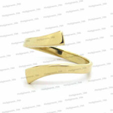 Women's 14K Yellow Gold Over Adjustable Crossover Toe Ring For