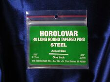 "40 Steel Tapered Pins - 1""x.050""x.012"" Black Oxide Clock Repair - Horolovar"
