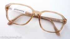 Vintagebrille hellbraun Oversized-Form Gestell 70s Opabrille Herrenfassung sizeM