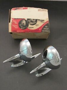 1950 's Vintage  Accessory Side View Mirrors Eagle model Supersite NOS