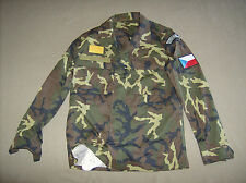 Czech army surplus woodland camouflage combat shirt new unissued Mens M short