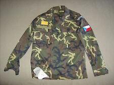 Czech army surplus woodland camouflage combat shirt new unissued Mens M short