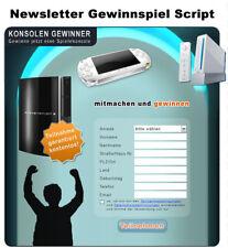 Newsletter Gewinnspiel Script - PHP Script
