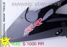 BMW - K46 S 1000 RR Seitenteil Lackiert saphir-schwarz met. mit Schrift • links