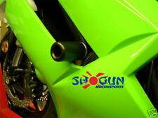 Kawasaki 2007-2008 ZX6R ZX 6R Shogun Frame Sliders No Cut Version Black