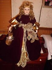"Norma Rambaud  Angel 29"" tall w/stand porcelain doll Royal Treasures"