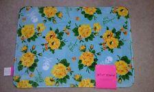 Halloween Yellow Roses/ Skull Memory Foam Bath Rug 17in W x 24in L NWT