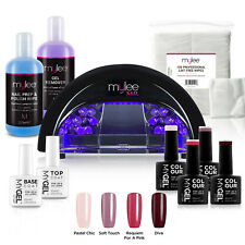 Mylee Mygel Christmas Kit LED Nail Lamp 4 Gel Polish Colours Top Base Prep+Wipe