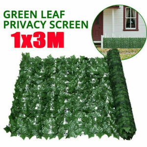 Artificial Green Ivy Leaf Hedge Privacy Screen Willow Trellis Garden Wall Fence~