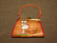 "VINTAGE 5"" WIDE CONEY ISLAND NY MINI SOUVENIR GIRL PURSE"