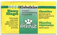 Prinz Pre-folded Stamp Hinges With Acid-Free Gum Pack of 1000 Fine Quality