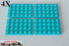 2X Lego® 3035 Basic Platte Plate 4X8 Hellblau Medium Blue 4587271 NEU LEGO Bau- & Konstruktionsspielzeug