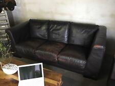 Industrie Design Sofa Design-Klassiker PRIORI Ledersofa Loft Vintage 3er Sofa