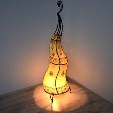 Orientalische Hennalampe Stehleuchte Orient Lampe Marokko Lederlampe LSCH_N H80