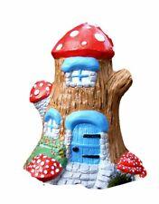 Stone Fairy Tree Trunk Lodge Garden Ornament- Handmade by Pixieland UK