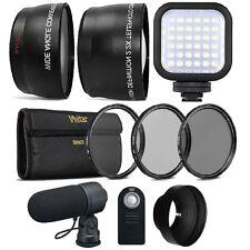 52mm Fisheye Telephoto & Wide Angle Lens Accessory Kit for NIKON DSLR Cameras