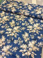 Makower Fabrics Blue Sky Large Blossom Trail By The Half Metre