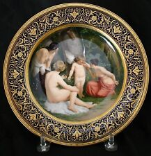 Royal Vienna Cabinet Plate Cupid Reprimanded by Nude Nymphs, circa 1890's