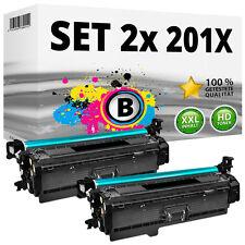 2x TONER für HP 201X 201A Color LaserJet Pro M252dw M252n MFP M274n M277dw M277n
