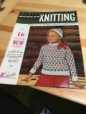 Vintage Retro - Modern Knitting Magazine Dec 1962, Machine Patterns Knitmaster