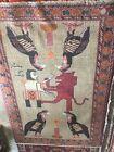 Beautiful Persien Tribal Qashqai King Fighting Lion Rug Fars
