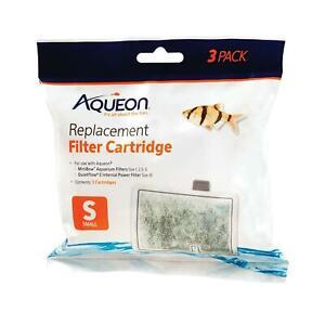 Aqueon Small  Replacement Filter Cartridges For MiniBow Aquarium Filters