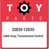 33820-12D30 Toyota Cable assy, transmission control 3382012D30, New Genuine OEM