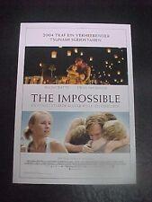 THE IMPOSSIBLE, film card [Naomi Watts, Ewan McGregor, Tom Holland]