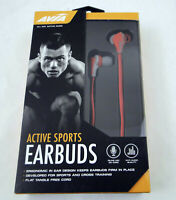 AVIA Active Sports In ear Earbud Stereo Headphones w/ Inline Mic. Free Shipping