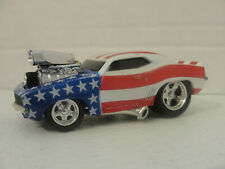MUSCLE MACHINES 1:64 '69 CHEVY CAMARO - LOOSE - RED, WHITE & BLUE