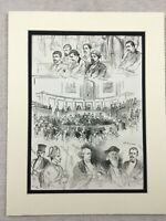 1875 Print True Crime Murder Trial Victorian England Law Court Antique Original