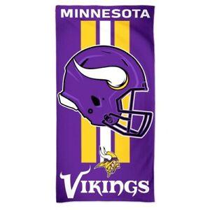 "NFL Minnesota Vikings Helmet - Beach Towel  30"" x 60"" - 100% Cotton"