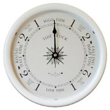 """9 1/2"""" Wh. Tide Clock By West & Co."""