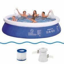 Marin Blue Pool Set Ø 360x76 cm Swimmbad Schwimmbecken + Pumpe & Filterkartusche