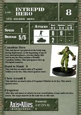 Axis & Allies reservas Mini 02 Intrepid Hero Raro