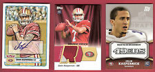 COLIN KAEPERNICK 2012 AUTOGRAPH + Rookie JERSEY PATCH + Topps RC CARD SF 49ers